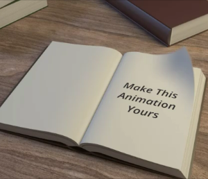 book intro logo animation