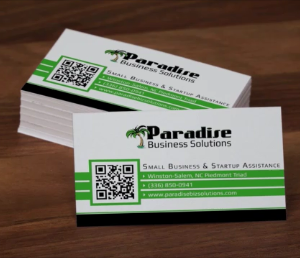 business cards marketing animation