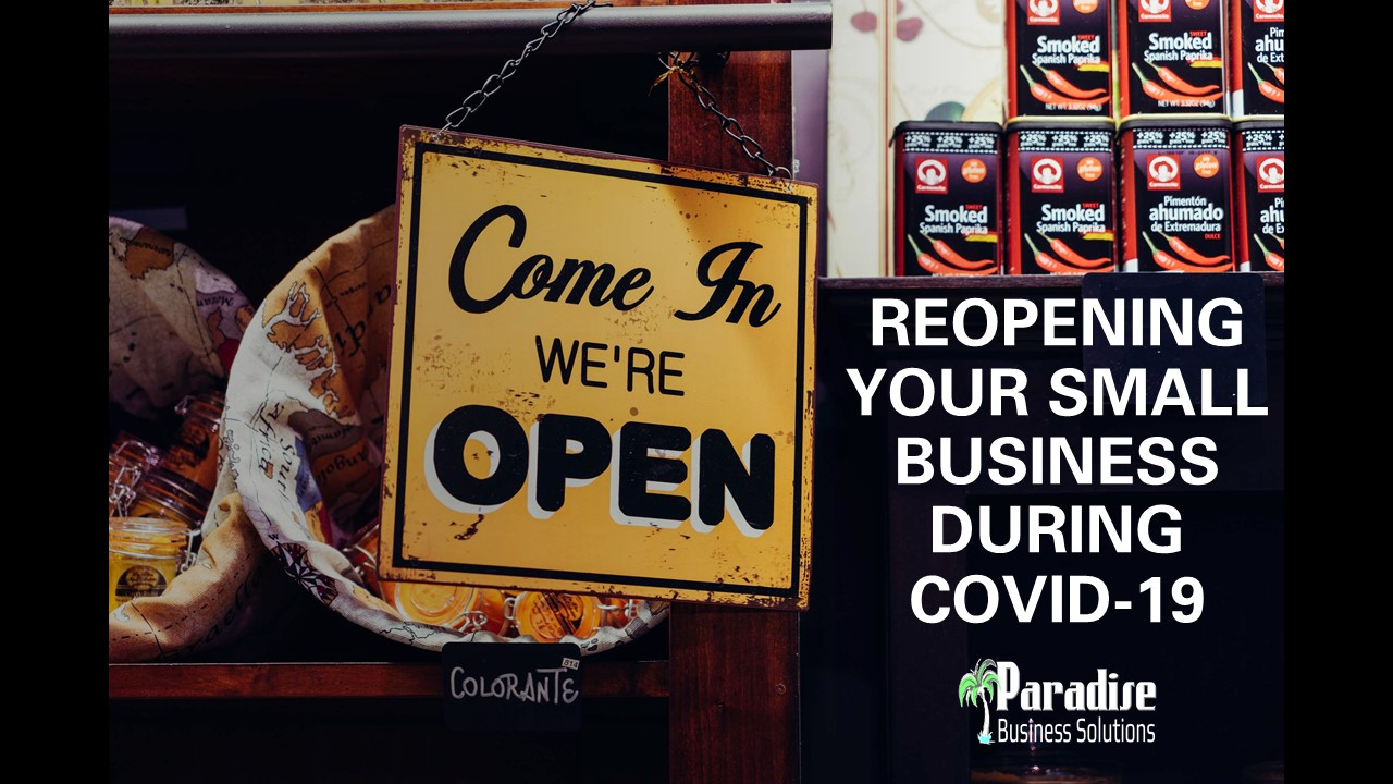 Reopening Your Small Business During COVID-19
